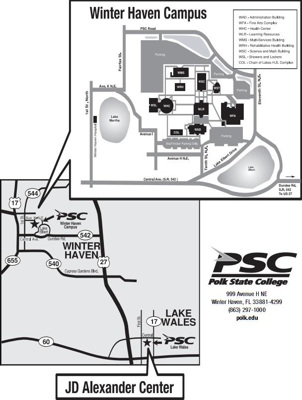 Polk State College Campus Map.Polk
