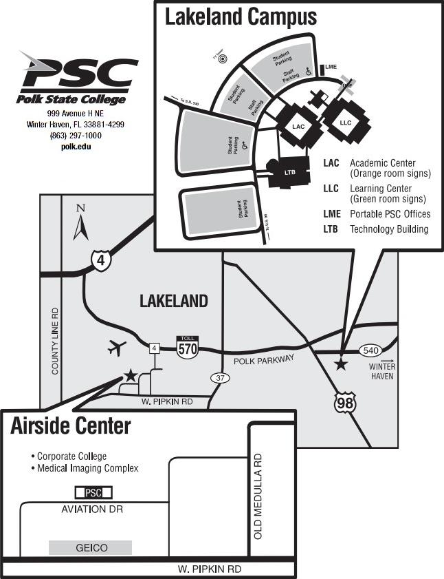 Polk State College Campus Map.Lakeland College Campus Map Www Imagessure Com